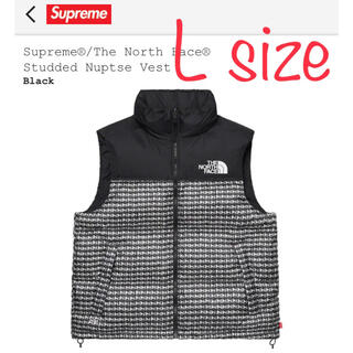 Supreme - 【黒L】Supreme North Studded Nuptse Vest