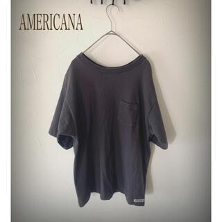 アメリカーナ(AMERICANA)のAmericana コットンクルーネックヴィンテージ カットソー 日本製(Tシャツ(半袖/袖なし))
