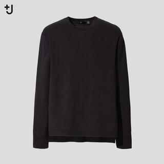 UNIQLO - 新品 UNIQLO+J シルクコットンクルーネックセーター ブラック XXL