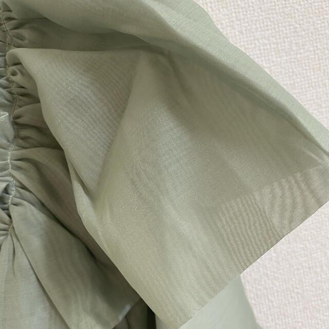 ZARA(ザラ)のZARA   ザラ   オーガンジーニット パワショル  レディースのトップス(ニット/セーター)の商品写真