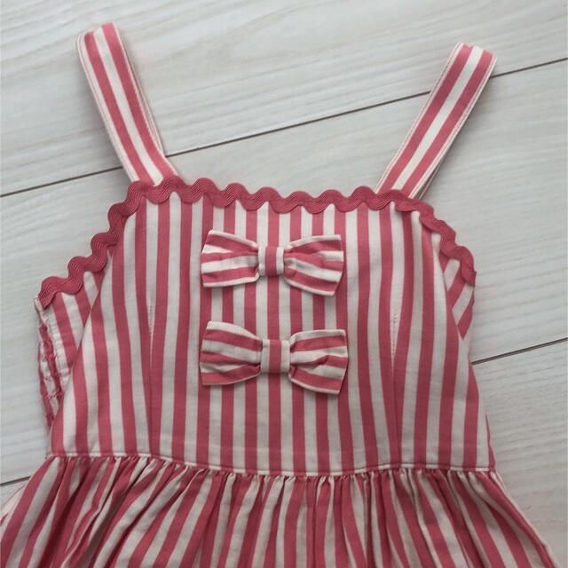 Shirley Temple(シャーリーテンプル)のドーナツ ピンク 110 キッズ/ベビー/マタニティのキッズ服女の子用(90cm~)(ワンピース)の商品写真