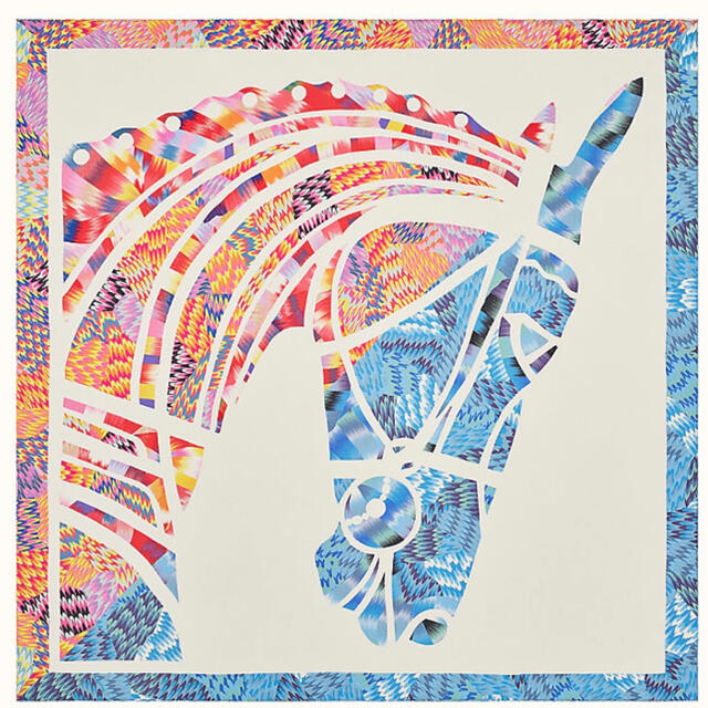 Hermes(エルメス)のエルメス HERMES マーブルシルク カレ90《ローブデュソワール》 レディースのファッション小物(バンダナ/スカーフ)の商品写真