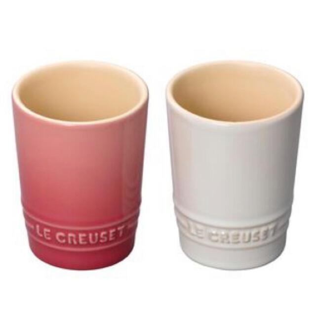 LE CREUSET(ルクルーゼ)のペア・ショート・タンブラー ローズクオーツ&ホワイトラスター インテリア/住まい/日用品のキッチン/食器(食器)の商品写真