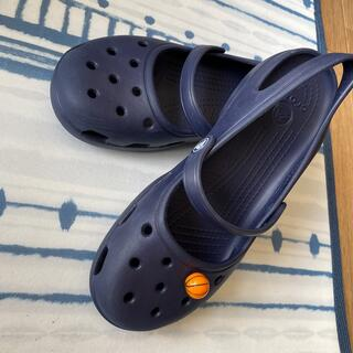 crocs - #人気のクロックス 紺色 W8   ユーズド^_^