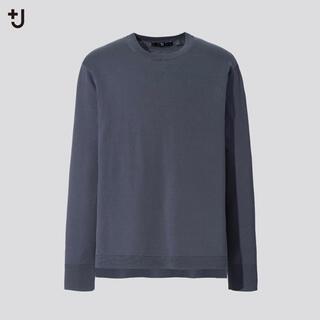 UNIQLO - 新品 UNIQLO+J シルクコットンクルーネックセーター グレー L
