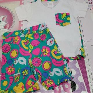 ロデオクラウンズワイドボウル(RODEO CROWNS WIDE BOWL)のRODEO CROWNS 90-95 XS Tシャツ ハーフパンツ 綿100%(Tシャツ/カットソー)