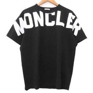 MONCLER - モンクレール 20SS maglia Tシャツ ロゴプリント M 黒 国内正規