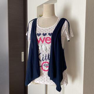 オリンカリ(OLLINKARI)の可愛い☆OLLINKARI ベスト付Tシャツ 160(Tシャツ/カットソー)