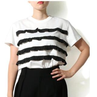 DEUXIEME CLASSE - 美品bordersボーダーズアットバルコニー サブリナTシャツ38ボーダーフリル