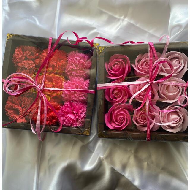 お花の石鹸 カーネーション バラ セット母の日 コスメ/美容のボディケア(ボディソープ/石鹸)の商品写真