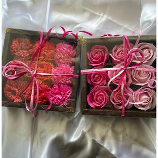 お花の石鹸 カーネーション バラ セット母の日