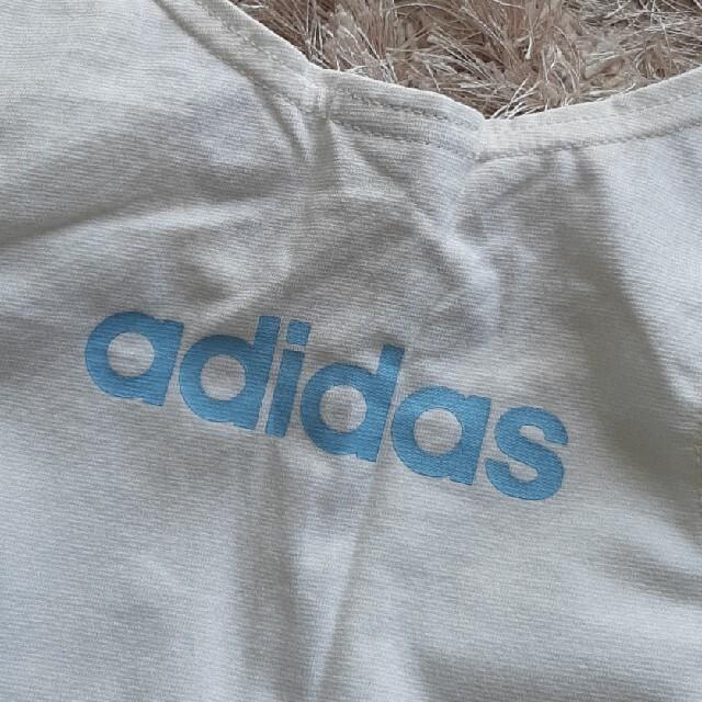 adidas(アディダス)の新品 adidas タンクトップ 青 白 二枚セット レディースのトップス(タンクトップ)の商品写真
