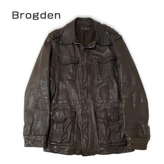 Brogden ブログデン レザージャケット コート ブラウン