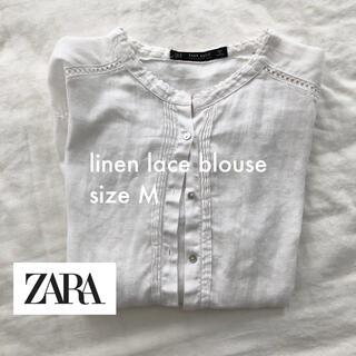 ZARA - zara リネンブラウス