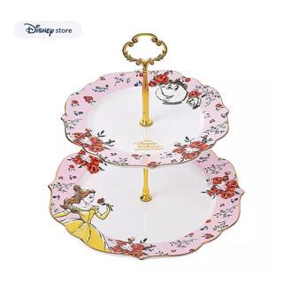 ディズニー(Disney)のディズニーストア 美女と野獣 ケーキスタンド 完売品(テーブル用品)