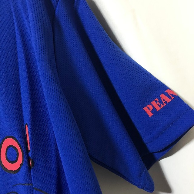 SNOOPY(スヌーピー)の1 スヌーピー SNOOPY 青 ドライ Tシャツ L ポリエステル100% メンズのトップス(Tシャツ/カットソー(半袖/袖なし))の商品写真