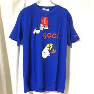 SNOOPY - 1 スヌーピー SNOOPY 青 ドライ Tシャツ L ポリエステル100%