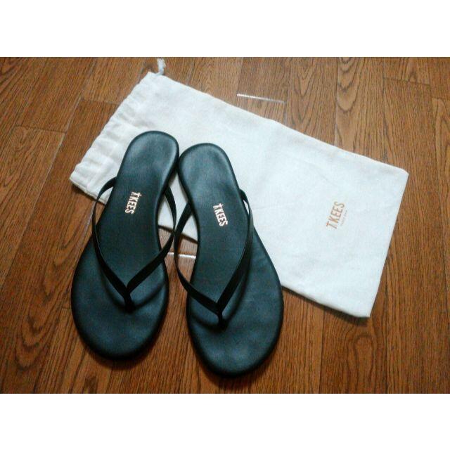 DEUXIEME CLASSE(ドゥーズィエムクラス)の TKEES FLIPS ブラック 36 レディースの靴/シューズ(サンダル)の商品写真
