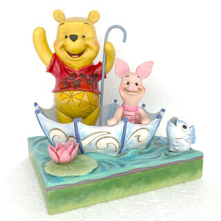 Disney - エネスコ ディズニー トラディション プーさんとピグレットフィギュア