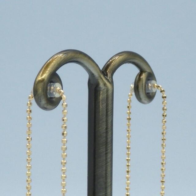 アコヤパール ピアス18k イエローゴールド 2way アメリカン ピアス  レディースのアクセサリー(ピアス)の商品写真
