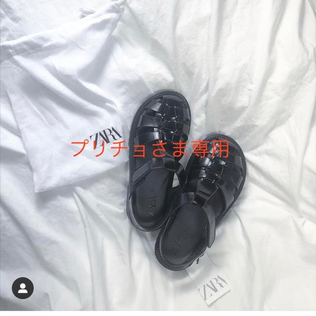 ZARA(ザラ)の新品 ZARA グルカサンダル 38 完売品 レディースの靴/シューズ(サンダル)の商品写真