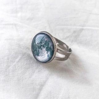 Lochie - ୨୧ Vintage rétro antique Moon Ring Ⅱ