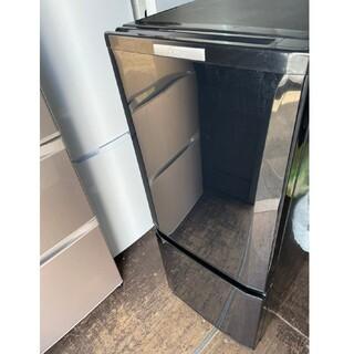 ミツビシデンキ(三菱電機)の三菱電機 2ドア冷蔵庫 146L 💍2015年製💍 BLACK(冷蔵庫)