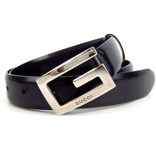 Gucci - GUCCI グッチ Gロゴ バックル ベルト ブラック 17-410