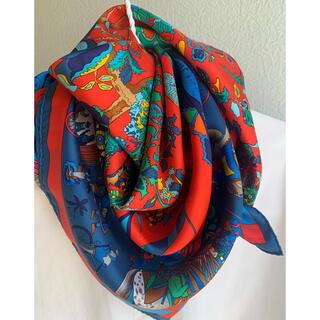 エルメス(Hermes)の美品❣️エルメス カレ90 「眩惑のインド」(バンダナ/スカーフ)