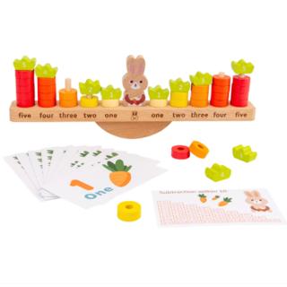 バランスゲーム 木製 ウサギ 数学 にんじん モンテッソーリ玩具