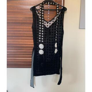 アッシュペーフランス(H.P.FRANCE)のio スカーフ付きチュニックドレス(チュニック)