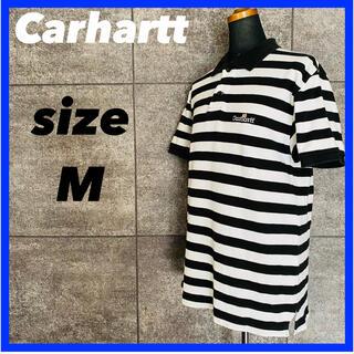 カーハート(carhartt)のCarhartt カーハート 半袖 ポロシャツ メンズ サイズM ボーダー柄(ポロシャツ)