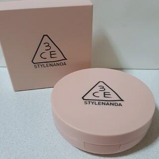 スリーシーイー(3ce)の(ほぼ新品)3CE♡GLOW SKIN CUSHION グロウスキンクッション(ファンデーション)