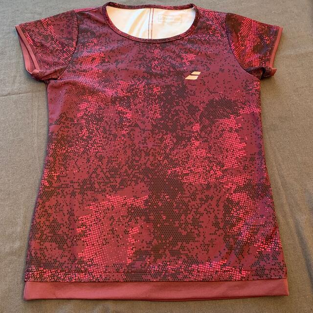 Babolat(バボラ)のバボラテニスウエアトップス ピンク スポーツ/アウトドアのテニス(ウェア)の商品写真