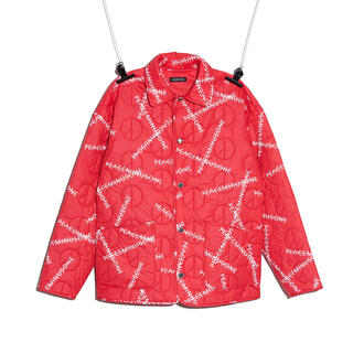 PEACEMINUSONE - PMO QUILTED JACKET #1 RED