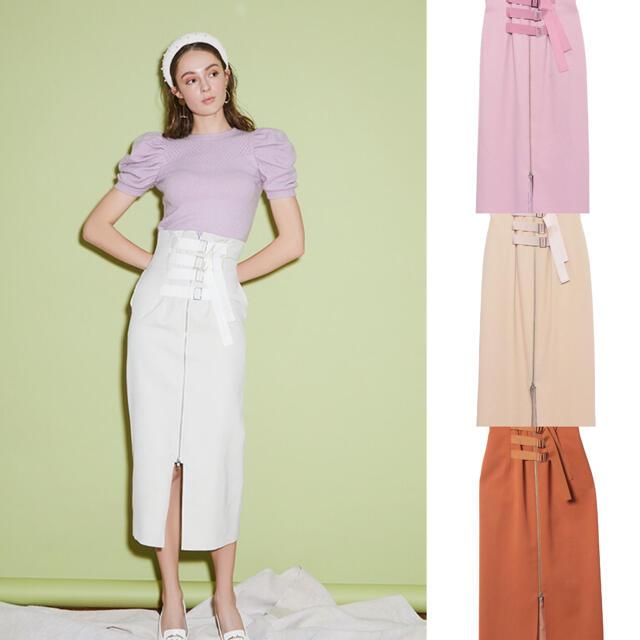 eimy istoire(エイミーイストワール)のeimy istoire ラインベルトペンシルスカート レディースのスカート(ロングスカート)の商品写真