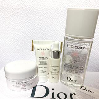 ディオール(Dior)のディオール スノー  コフレ 化粧水 乳液 美容液 クリーム 4点 セット(サンプル/トライアルキット)