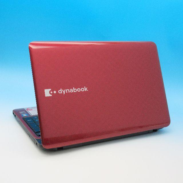 東芝(トウシバ)の東芝 ノートパソコン i5搭載 爆速SSD256GB メモリ8GB 人気のレッド スマホ/家電/カメラのPC/タブレット(ノートPC)の商品写真