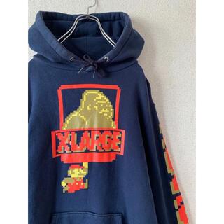 XLARGE - 【xlarge】エクストララージ マリオ パーカー ネイビー 希少 古着
