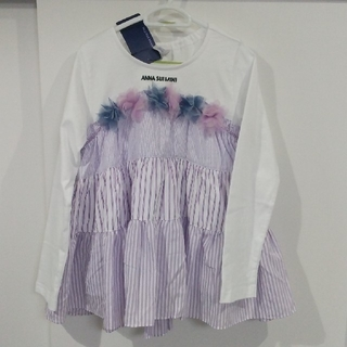 ANNA SUI mini - アナスイミニ 長袖 トップス 130 女の子 新品 シャツ チュニック