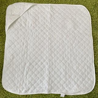 ニシマツヤ(西松屋)の西松屋 アフガン おくるみ 刺繍 白 正方形 ベビー用品(おくるみ/ブランケット)