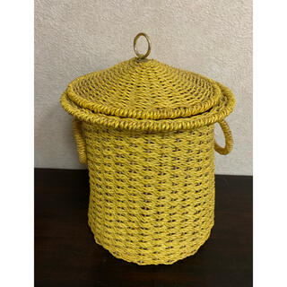 アクタス(ACTUS)のguri様専用 アンティーク 古道具 カゴ かご ゴミ箱 小物入れ 籐 ラタン(バスケット/かご)