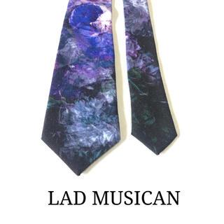 LAD MUSICIAN - ☆美品☆ラッドミュージシャン 薔薇/花柄 ネクタイ(パープル/紫)