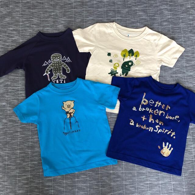 mont bell(モンベル)のモンベル mont-bell ウィックロン 4枚セット キッズ/ベビー/マタニティのキッズ服男の子用(90cm~)(Tシャツ/カットソー)の商品写真