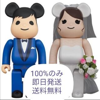 メディコムトイ(MEDICOM TOY)のBE@RBRICK グリーティング結婚 4 PLUS 100%(その他)
