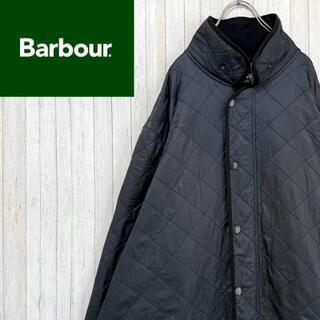 バブアー キルティングジャケット ネイビー インナーフリース ビッグサイズ