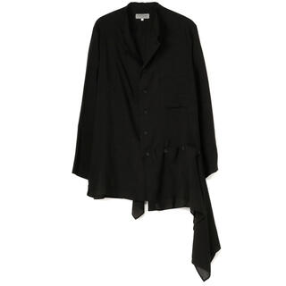 Yohji Yamamoto - yohji yamamoto  pour homme 左裾フラシ布付きブラウス