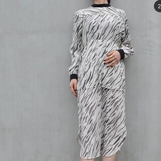 mame - 新品未使用 photocopieuドレス ホワイトタイガー 36