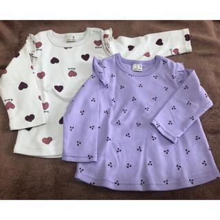 petit main - プティマイン  GIRLSアソートTシャツ2枚セット