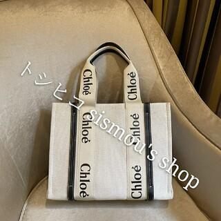 Chloe - Chloe Woody ズックのハンドバッグ ショッピングバッグ サイズ37